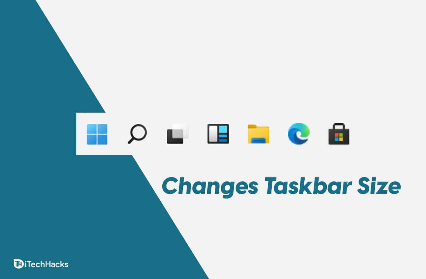 2 Ways To Changes Size Of Taskbar Windows 11